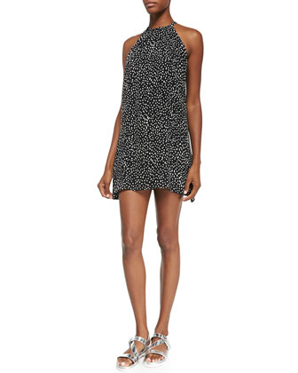 Camie Printed Halter Mini Dress