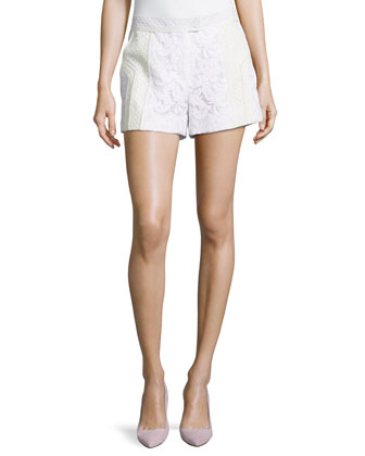 Lace Flat Front Shorts