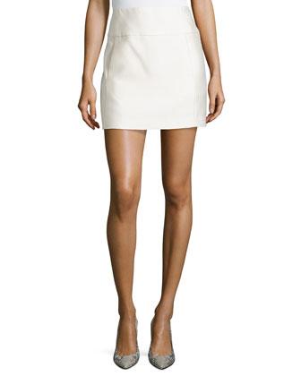 Double Twill Mini Skirt