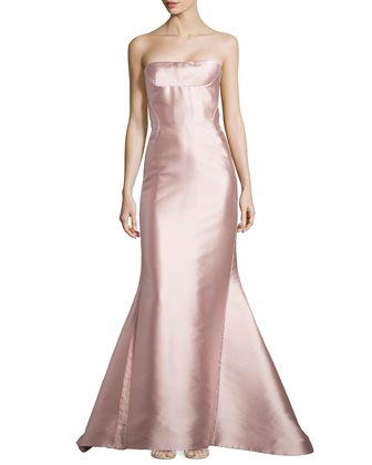 Strapless Bustier Gown, Rose
