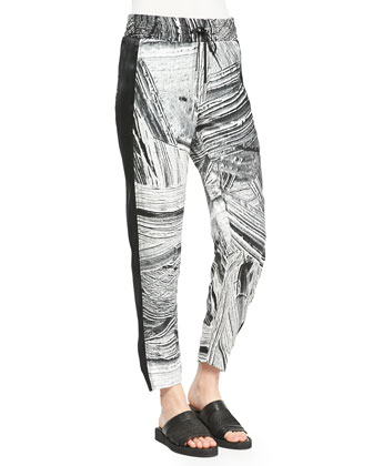Method Printed/Solid Silk Pants