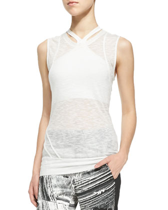 Corrosion Sleeveless Slub Top