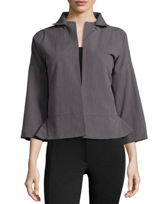 Bracelet Sleeve Relaxed Jacket, Lead