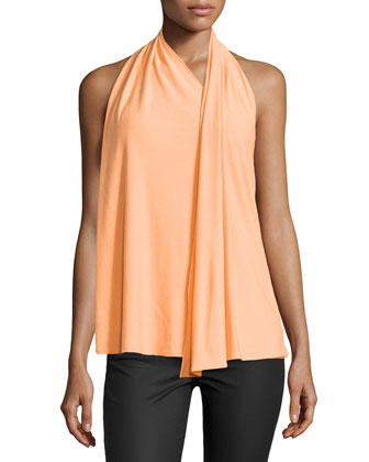 Draped Scarf Halter Top, Nectar