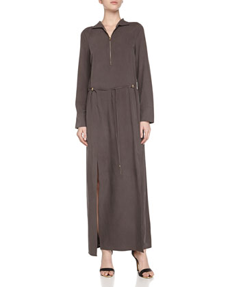 Long-Sleeve Silk Day Dress