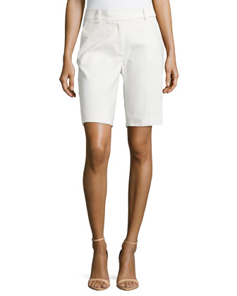 Cotton Bermuda Shorts, Cream