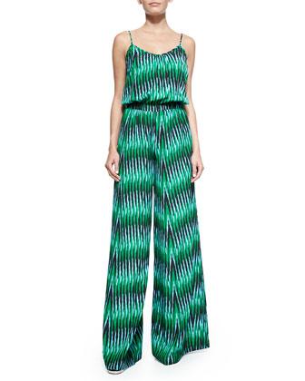 Sumatra Print Wide-Leg Jumpsuit