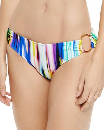 Santorini Brushstroke-Print Halter Top & Barbados Swim Bottom