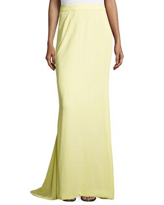 Crepe Floor Length Skirt, Soleil