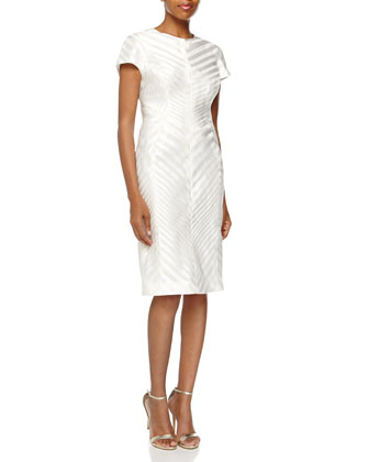 Chevron Organza Sheath Dress
