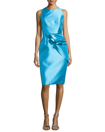 Sleeveless Cocktail Dress with Ruffled Waist