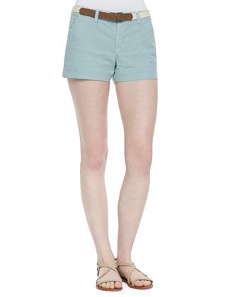 Finabella Ruffle-Trim Sleeveless Top & Jardin Chino Shorts