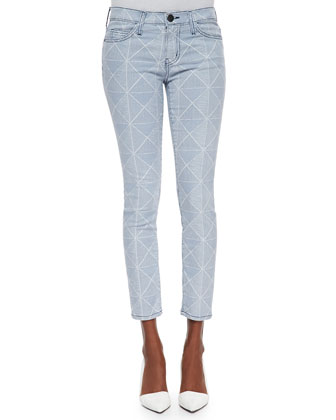 The Stiletto Diamond-Print Denim Jeans