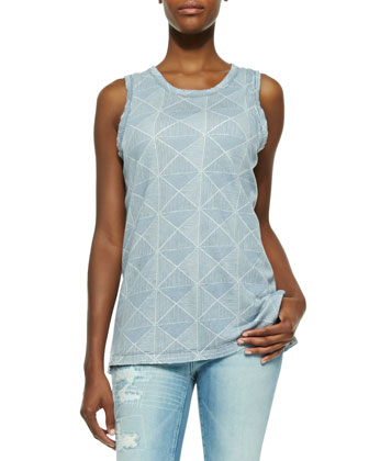 The Muscle Tee with Diamond Print