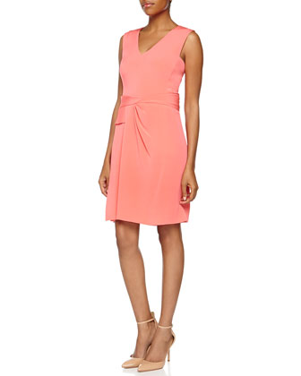 Matte Crepe Dress, Aurora