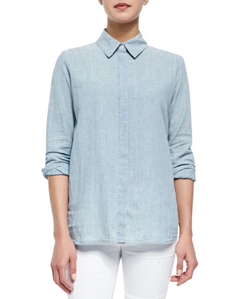 Le Classic Stretch-Cotton Shirt & Le Skinny Panel Denim Jeans