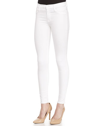 Nico Mid-Rise Skinny Jeans, White