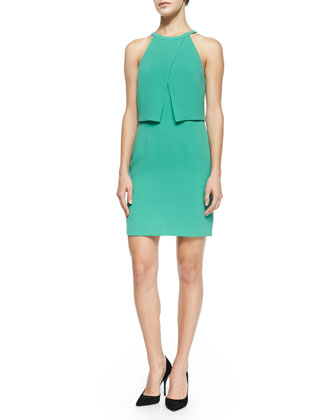 Bibelot Cross-Front Fitted Dress