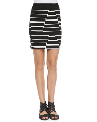 Striped Pyramid Steps Mini Skirt