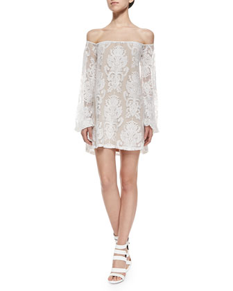 San Marcos Off-the-Shoulder Lace Dress