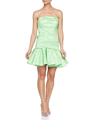Strapless Taffeta Dress, Summer Green