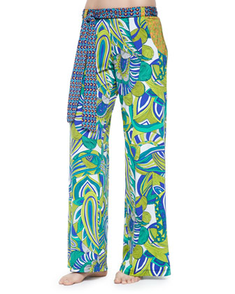 Amazonia Twisted Printed Bandeau Top, Bottom & Wide-Leg Pants