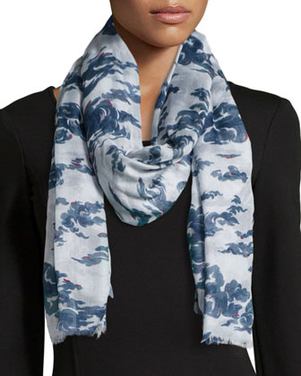 Cloud Printed Scarf