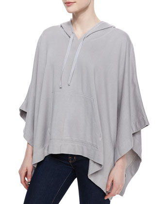 Olga Hooded Knit Poncho