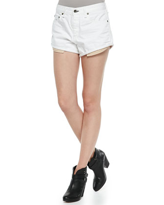 The Marilyn Denim Shorts, Bright White Rebel