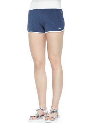 Chelsea Velour Track Shorts