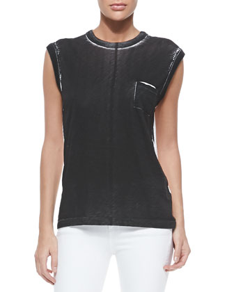 Rag & Bone Suzanne Bicolor Muscle Tee