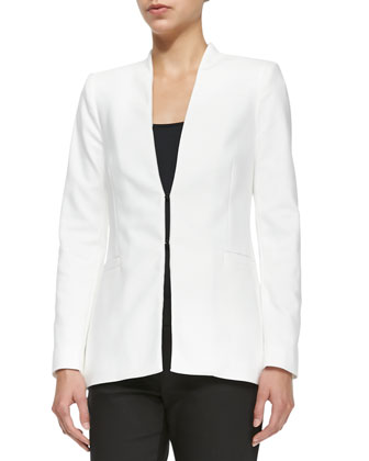 Alice + Olivia Long Collarless Blazer