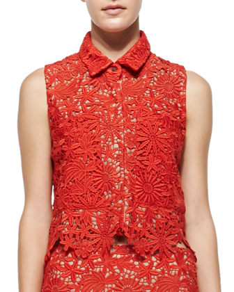 Cisco Sleeveless Floral Lace Top