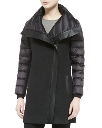 Audrey Long Combo Puffer Coat