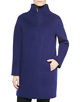 Dalia Long Coat W/ Stand Collar