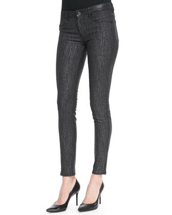Azella Coated Tweed Skinny Jeans