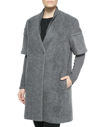 Louisa Long Coat W/ Layered Sleeves