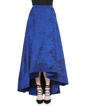 Kesten Floral Brocade Crop Top & Cohe Floral Brocade Asymmetric Skirt