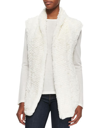 Fur Front Cashmere Vest