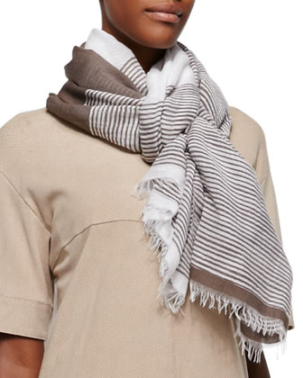 Variegated Striped Scarf