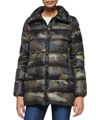 Torcy Camo-Print Zip-Front Coat