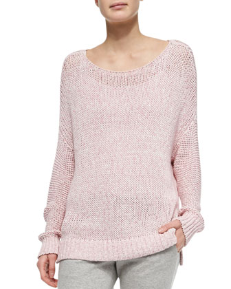 Chunky Knit Drop-Sleeve Sweater