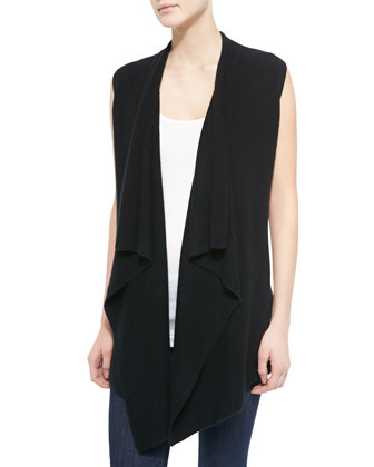 Long Draped Sweater Vest