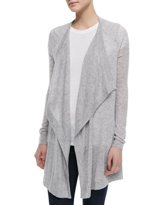 Lightweight Draped Cardigan & Basic Tee
