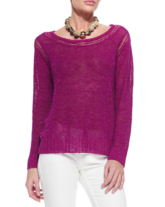 Linen/Cotton Grain Top, Women's