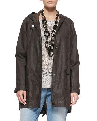 Hooded Anorak Jacket, Rye, Petite