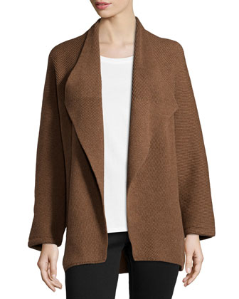 Long-Sleeve Wool/Cashmere Shrug