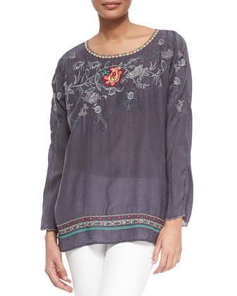 Kimara Embroidered Blouse, Women's