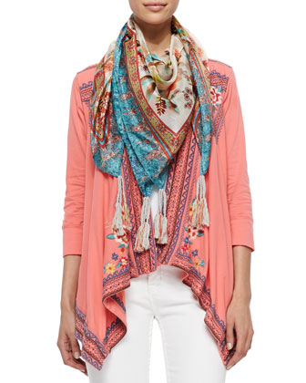 Collection Ruffle Cover Up Cardigan, Scoop-Neck Cotton Tank & Hummingbird ...