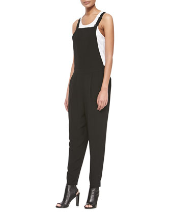 Fisher Project Utility Silk Jumpsuit, Black